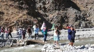 Los peregrinos reciben asistencia médica en las rutas