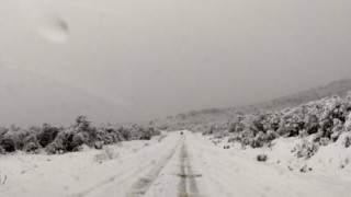 La impresionante llegada del Tren Patagónico a Bariloche en medio del temporal de nieve