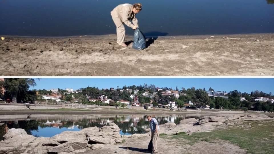Continúa la limpieza de la costanera del Lago San Roque - Vía País
