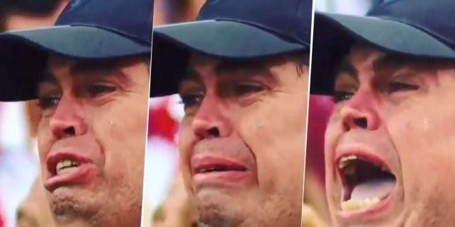 La historia del hincha de Colón que no paró de llorar con el tema de Los Palmeras - Vía País