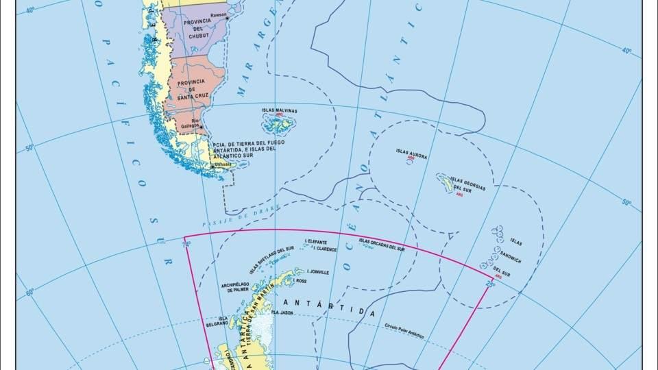 El Nuevo Mapa Bicontinental De Argentina Ubica A Tierra Del Fuego En El Centro Del Pais Via Ushuaia