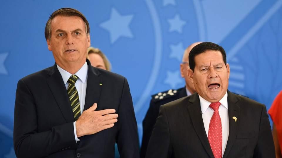 El vicepresidente de Brasil, Hamilton Mourao, viajará a la asunción de Alberto Fernández